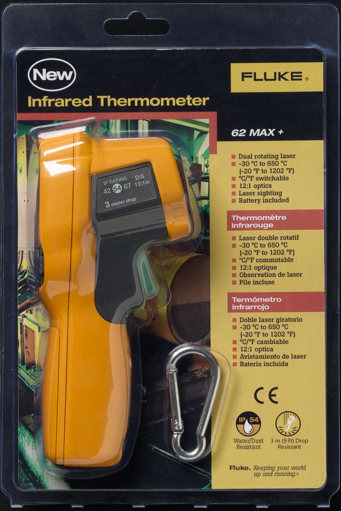 FLUKE 62 MAX+ - Dual Laser Infrared Meter 12:1 spot