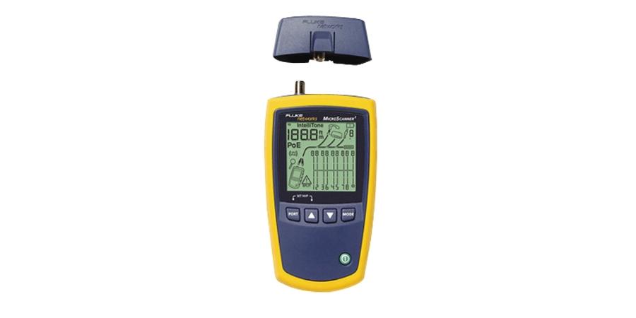 Fluke Network_MS2-100_Micro-scanner 2 1 - 2 Micro-scanner 2 Video, Data & Voice Wiring Tester of Ethernet Port Test, Length, PoE