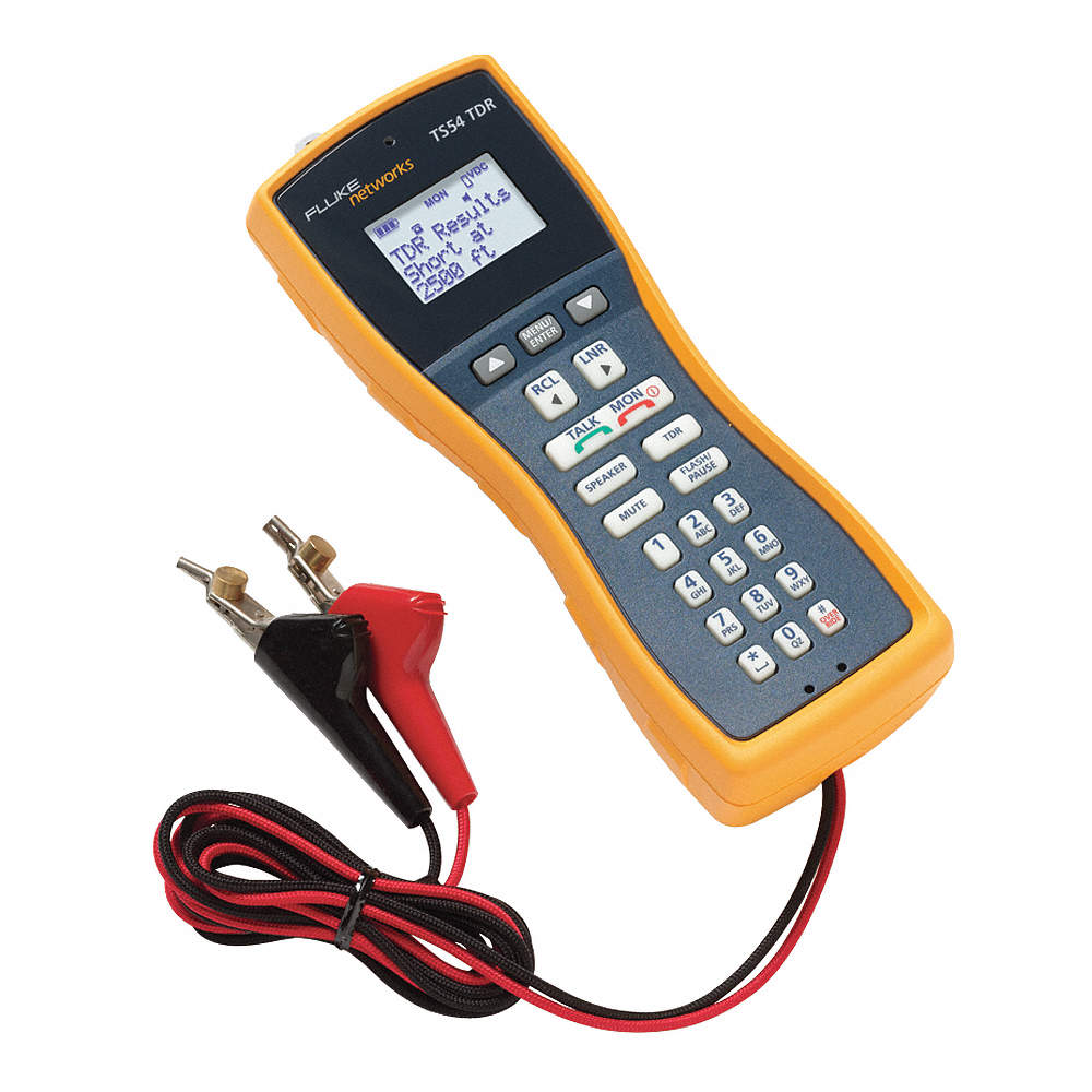 FLUKE NETWORKS TS54-A-09-TDR - LCD Telephone Test Set, TDR, ABN with Piercing Pin