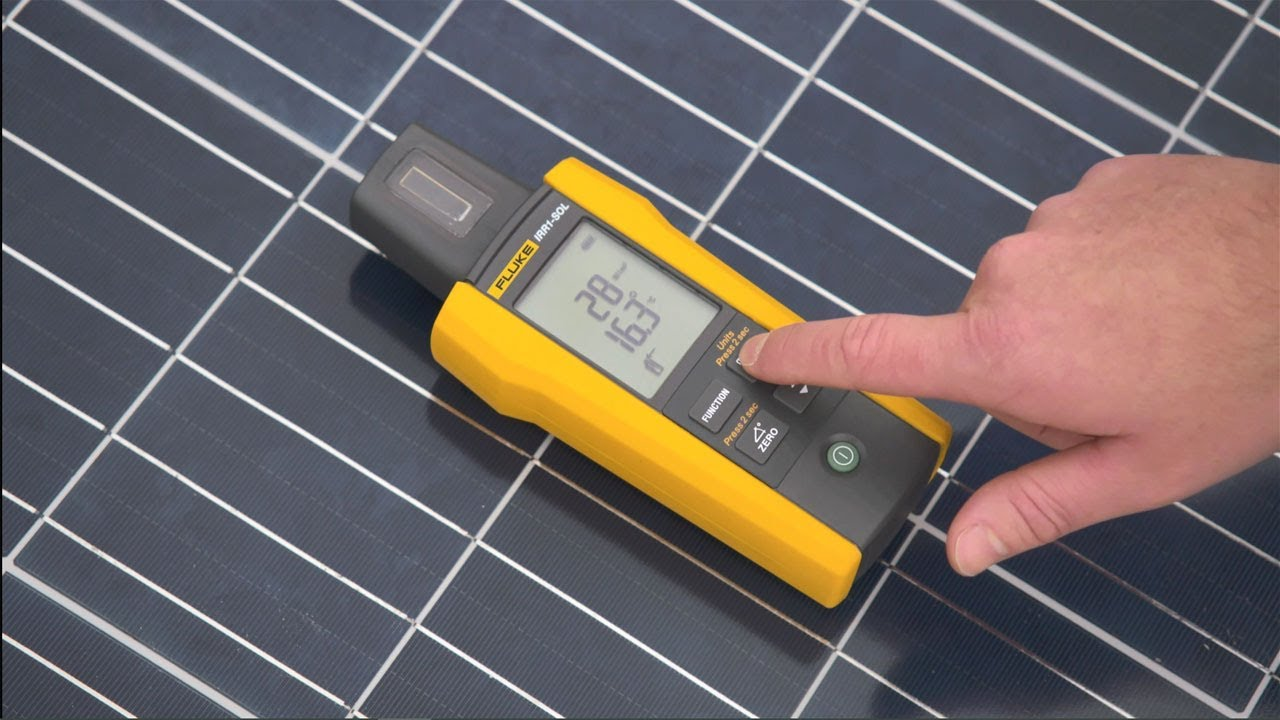 - Solar Irradiance Meter, 0 to 1400 W/m2