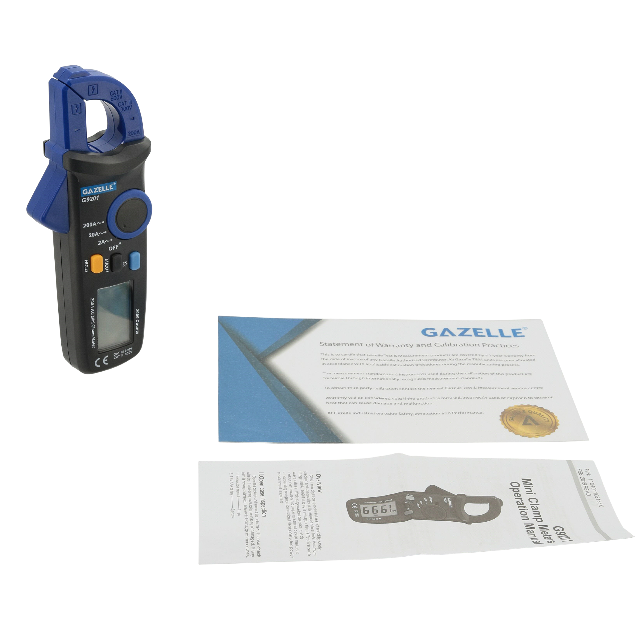 GAZELLE G9201 - Mini Clamp Meter 200A