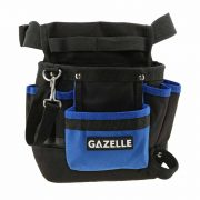 GAZELLE G8201 - 7 Pocket Toolbag with beltSize: 9.5In L x 11In H / 600D Polyester