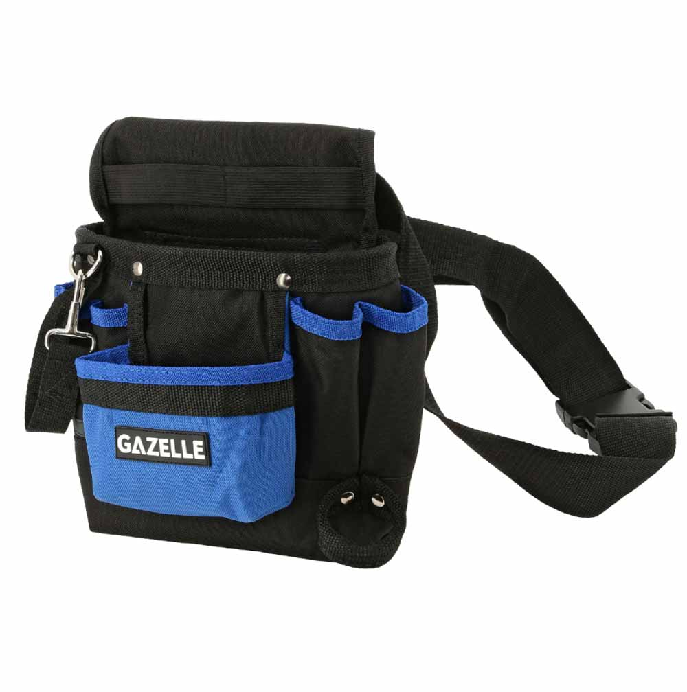- 7 Pocket Toolbag with beltSize: 9.5In L x 11In H / 600D Polyester