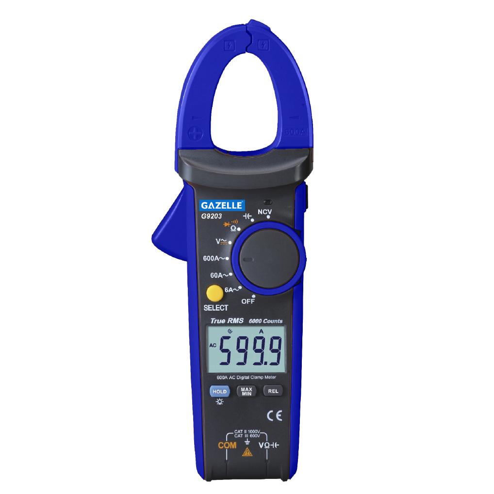 GAZELLE G9203 - 600A True RMS Digital Clamp Meter
