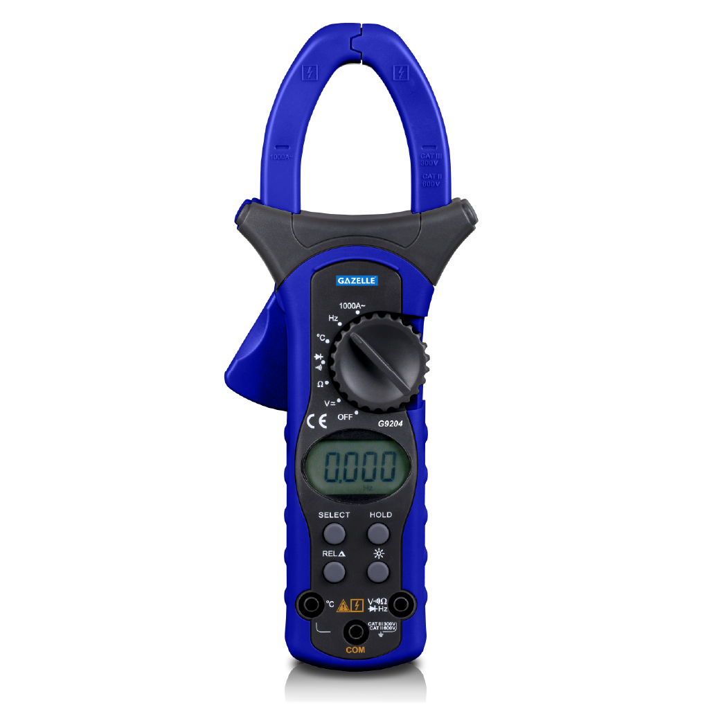 GAZELLE G9204 - 1000A Auto Range Digital Clamp Meter