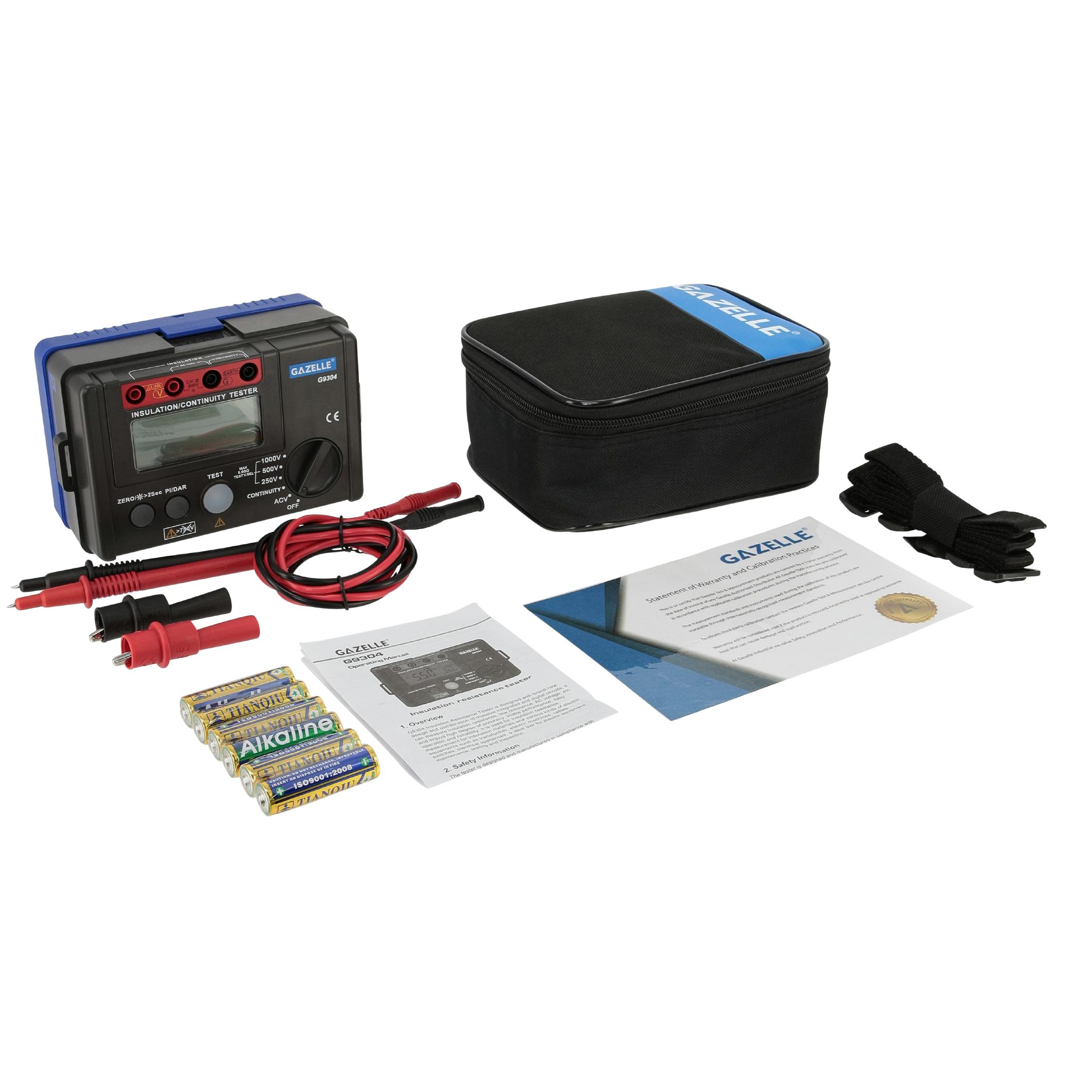 GAZELLE G9304 - 1000V Insulation Tester