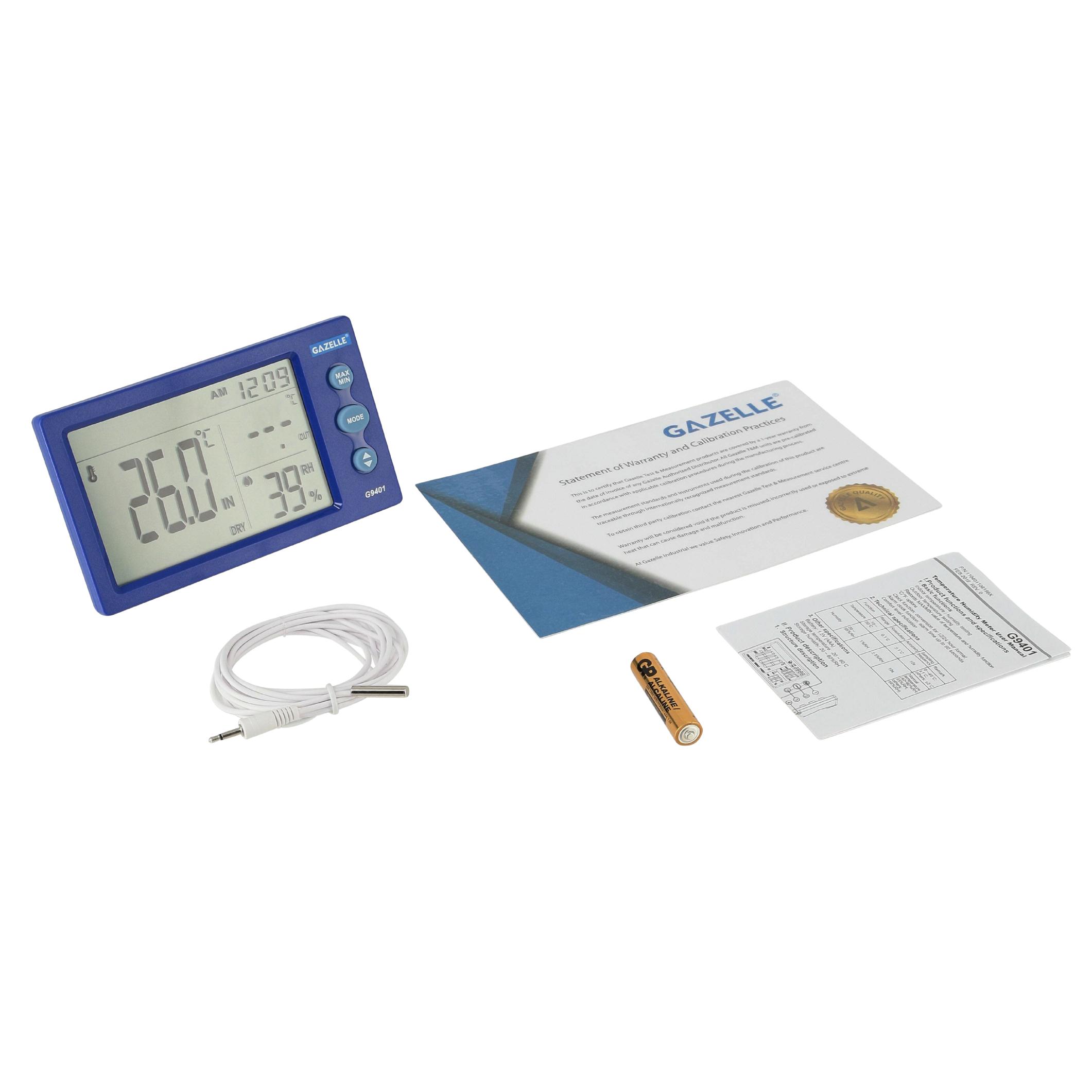 GAZELLE G9401 - Big Digit Temperature Humidity Meter