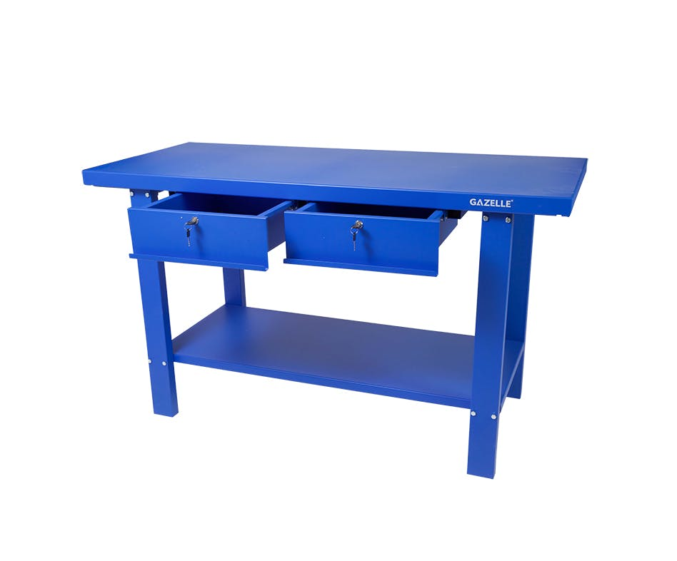 GAZELLE G2603 - G2603 59 Inch Steel Workbench with drawers