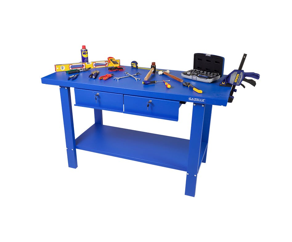 - G2603 59 Inch Steel Workbench with drawers