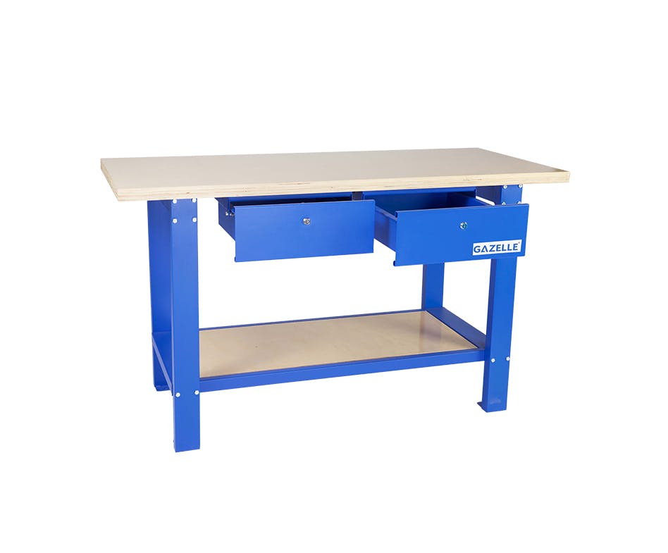 GAZELLE G2604 - G2604 59 Inch Solid Wood Top Workbench with drawers
