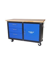 GAZELLE G2606 - G2606 60 Inch Mobile Workbench with Solid Wood Top