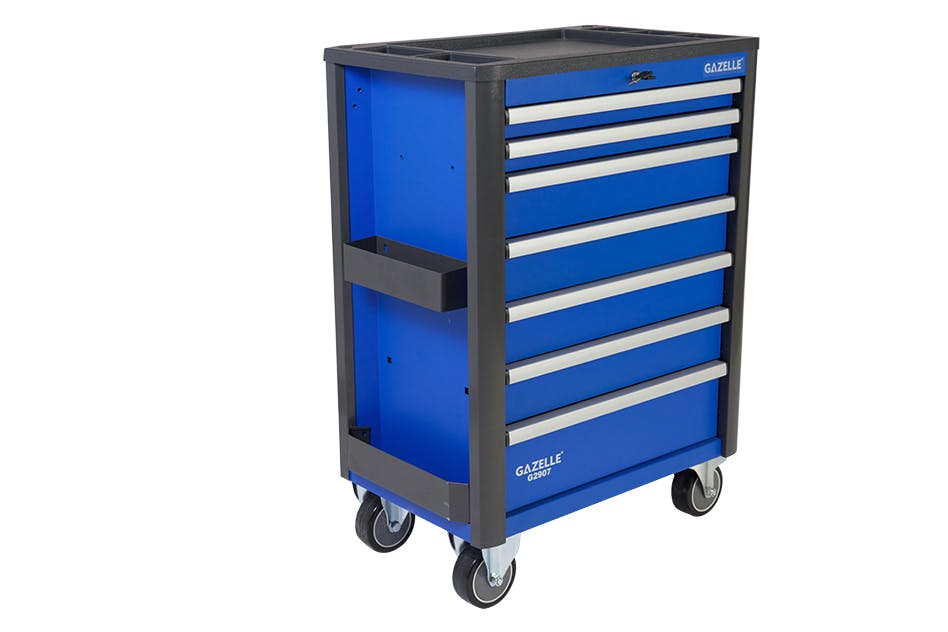 GAZELLE G2907 Pro-Combo - G2907 Combo 28 Inch 7-Drawer Rolling Tool Cabinet with tool chest