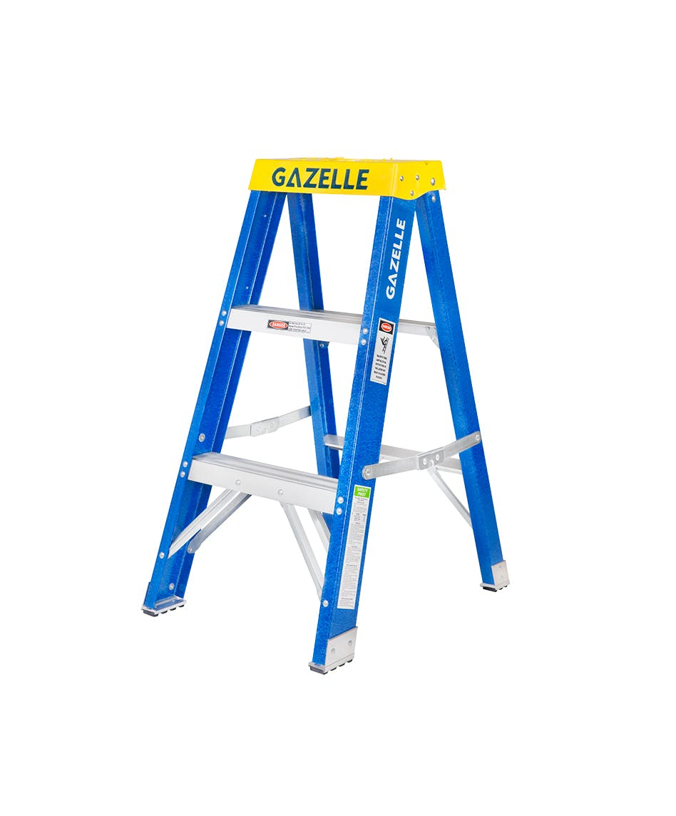 3 Ft. Fiberglass Step Ladder for working height up to 7 Ft.