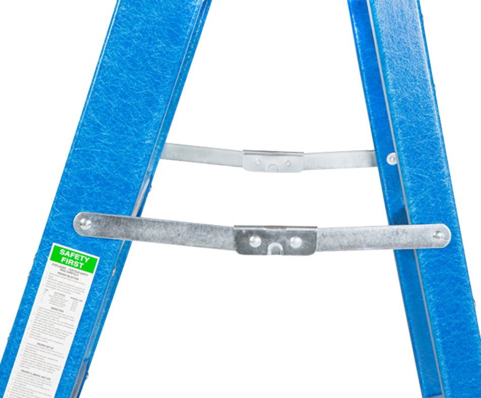 GAZELLE G3004 - 4 Ft. Fiberglass Step Ladder for working height up to 8 Ft.