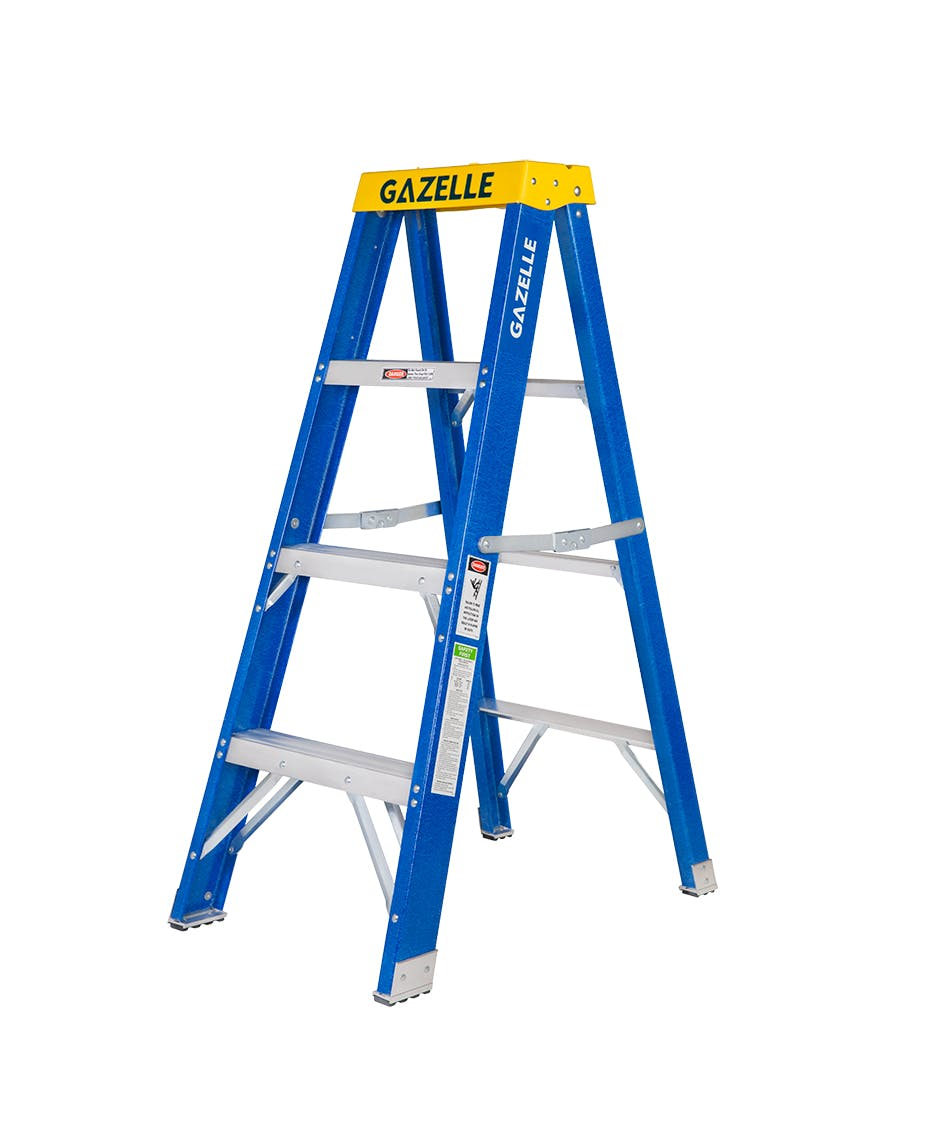 4 Ft. Fiberglass Step Ladder for working height up to 8 Ft.