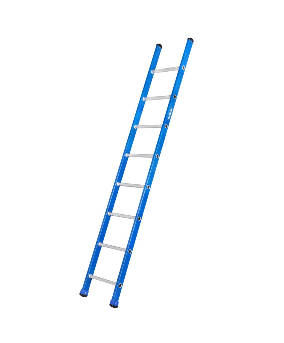 GAZELLE G3208 - 8 Ft. Fiberglass Straight Ladder for working height up to 11.5 Ft.