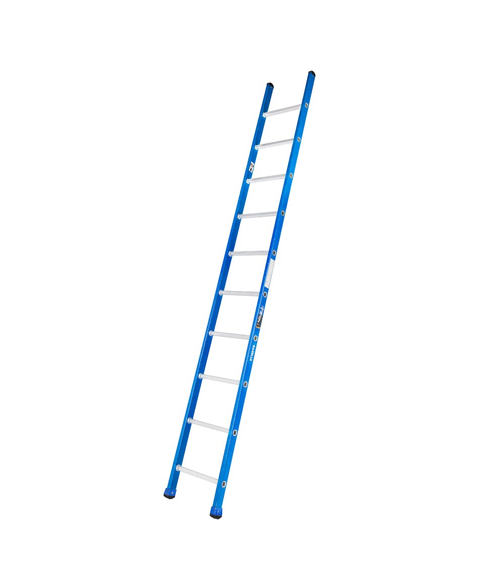 GAZELLE G3210 - 10 Ft. Fiberglass Straight Ladder for working height up to 13.5 Ft.