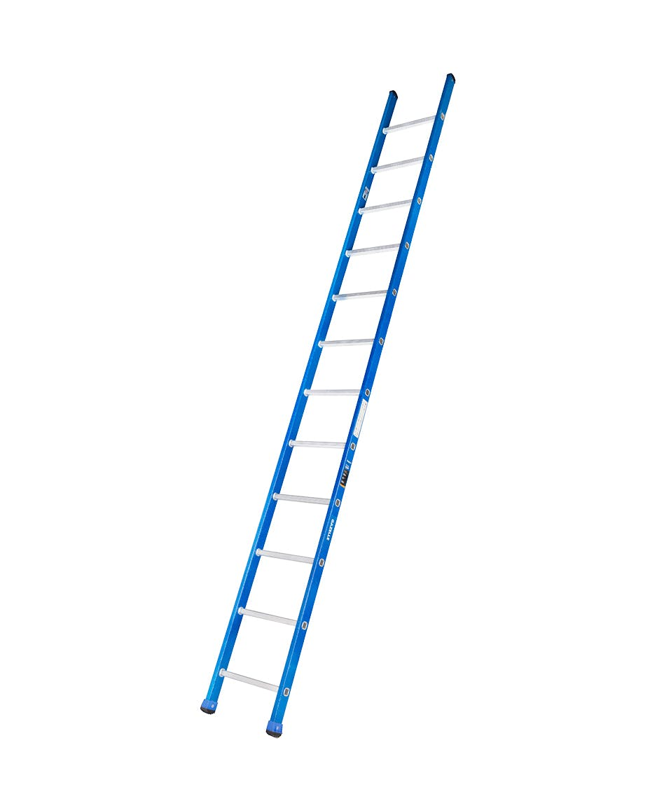 GAZELLE G3212 - 12 Ft. Fiberglass Straight Ladder for working height up to 15.5 Ft.