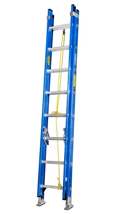 GAZELLE G3516 - 16 Ft. Fiberglass Extension Ladder w/ 300 Lbs. Load Capacity
