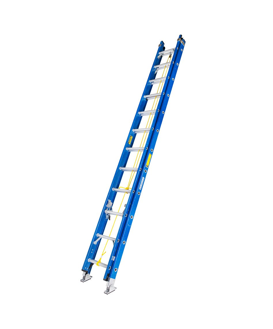 GAZELLE G3524 - 24 Ft. Fiberglass Extension Ladder w/ 300 Lbs.; Load Capacity