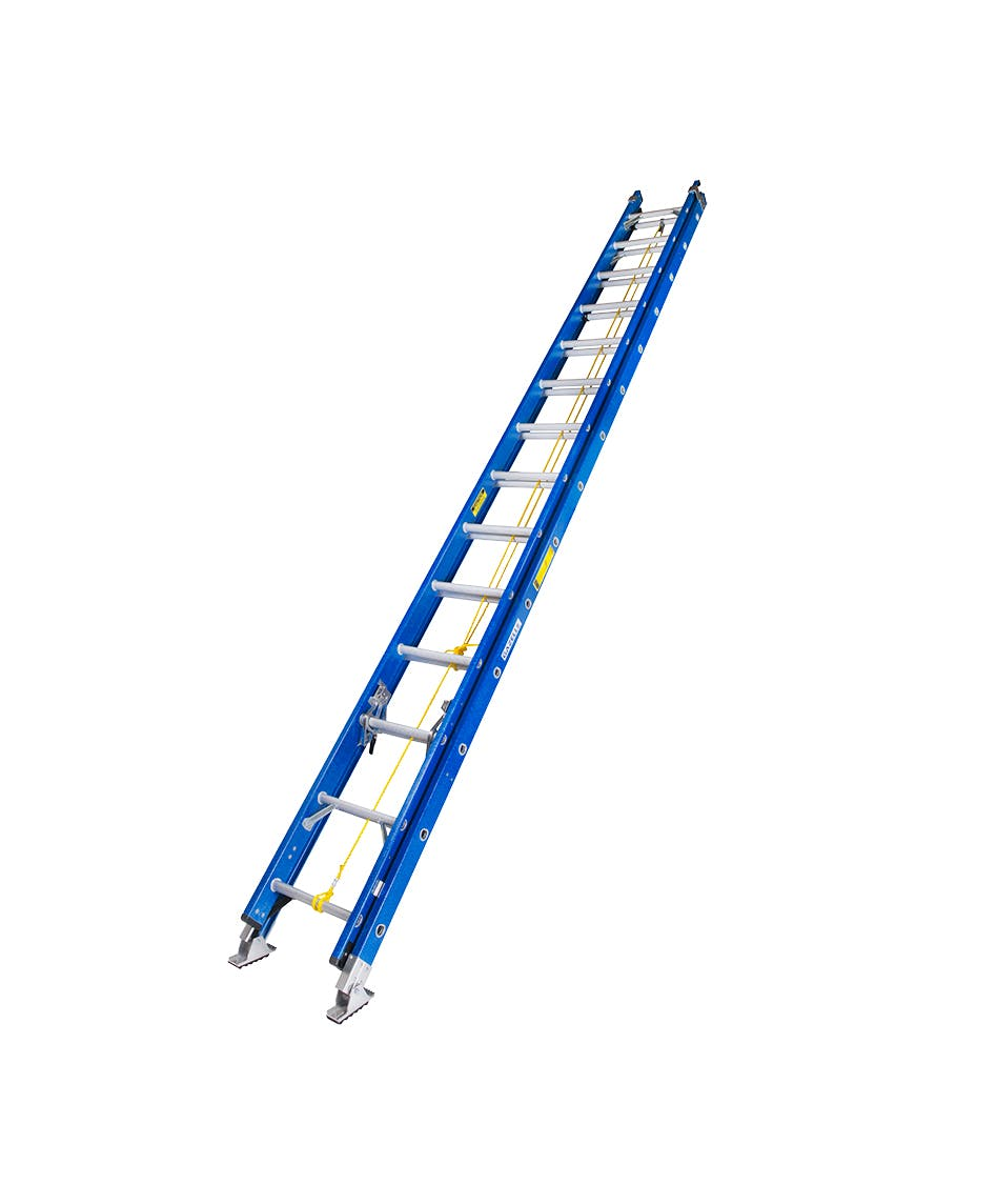 GAZELLE G3528 - 28 Ft. Fiberglass Extension Ladder w/ 300 Lbs. Load Capacity