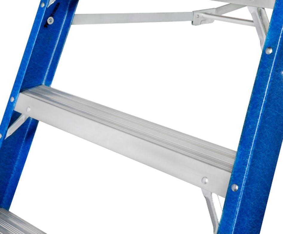 GAZELLE G3808 - 8 Ft. Fiberglass Platform Ladderfor working height up to 14 Ft.