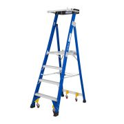 GAZELLE G3904 - 4 Ft. SafeTop Fiberglass Platform Ladder for working height up to 10 Ft.