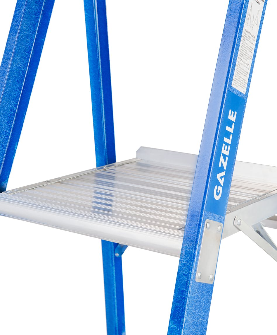GAZELLE G3906 - 6 Ft. SafeTop Fiberglass Platform Ladder for working height up to 12 Ft.
