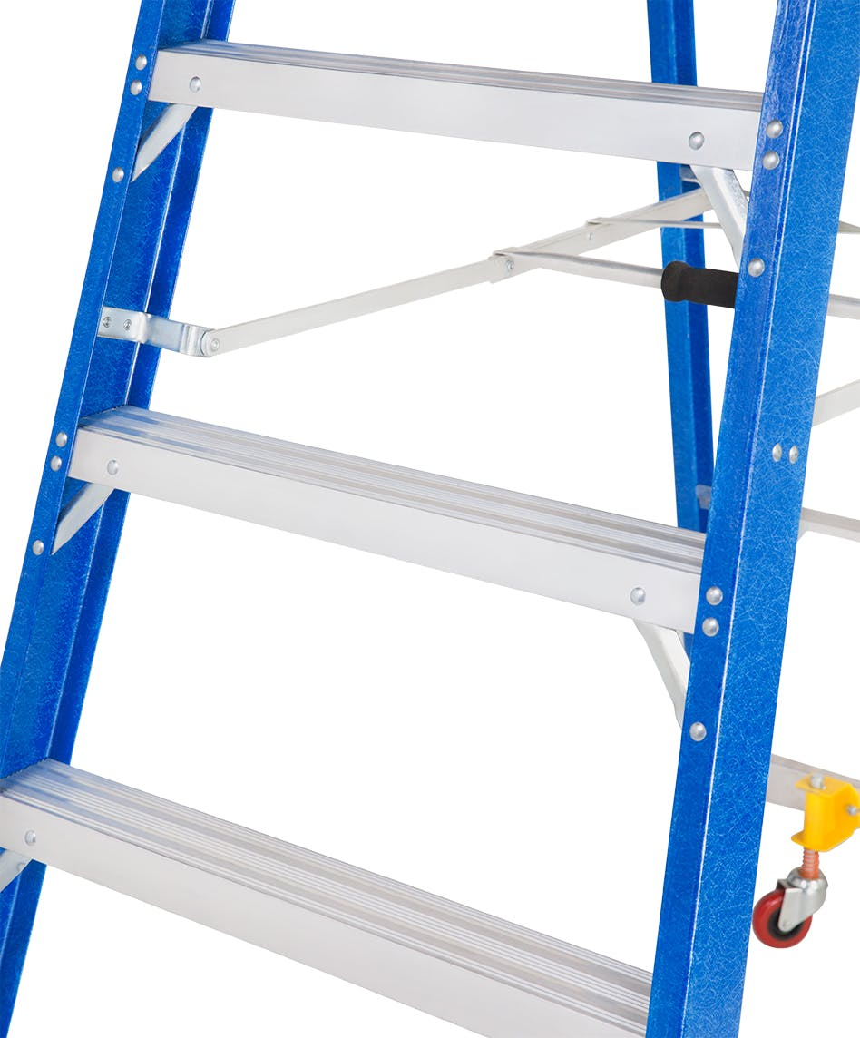 GAZELLE G3906 - 6 Ft. SafeTop Fiberglass Platform Ladder for working height up to 12 Ft.