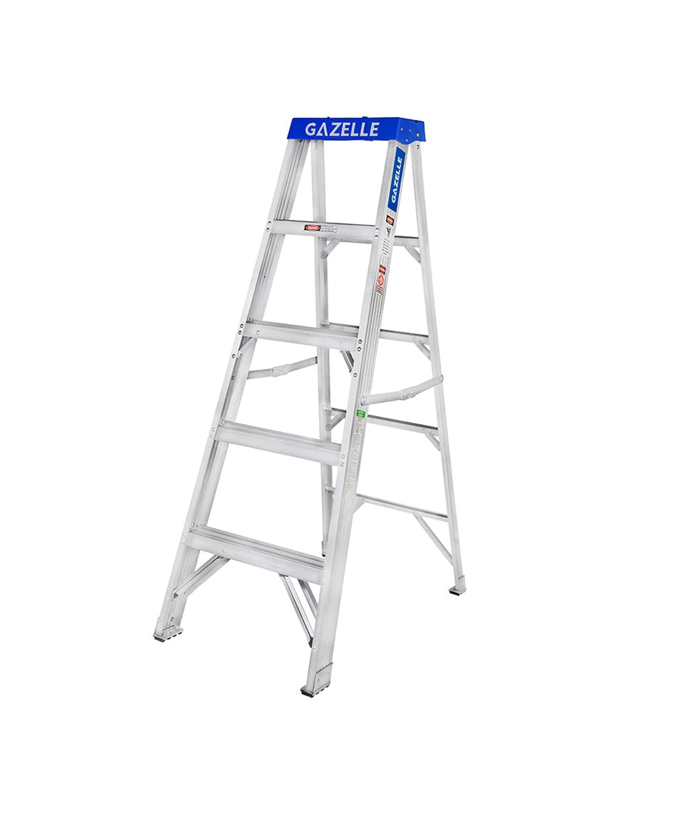 GAZELLE G5005 - 5 Ft. Aluminium Step Ladder for working height up to 9 Ft.