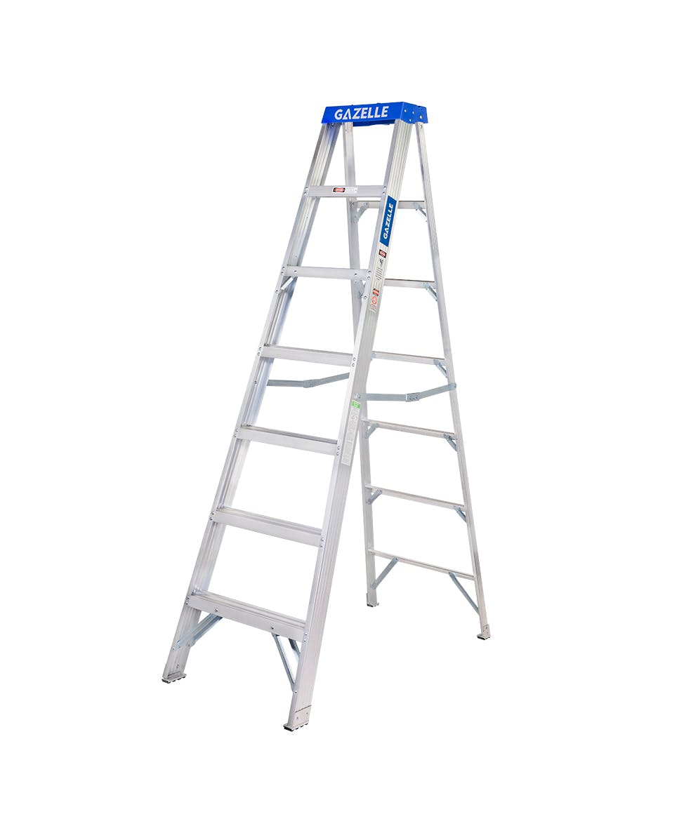 GAZELLE G5007 - 7 Ft. Aluminium Step Ladder for working height up to 11 Ft.