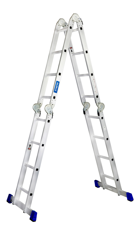 GAZELLE G5611 - 11 Ft. Aluminium Ladder 4 section 4 x 3 steps