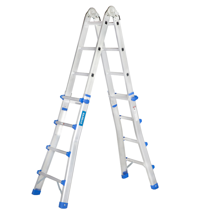 GAZELLE G5616 - 15.5 Ft. Telescopic Aluminium Ladder 4 x4 Steps