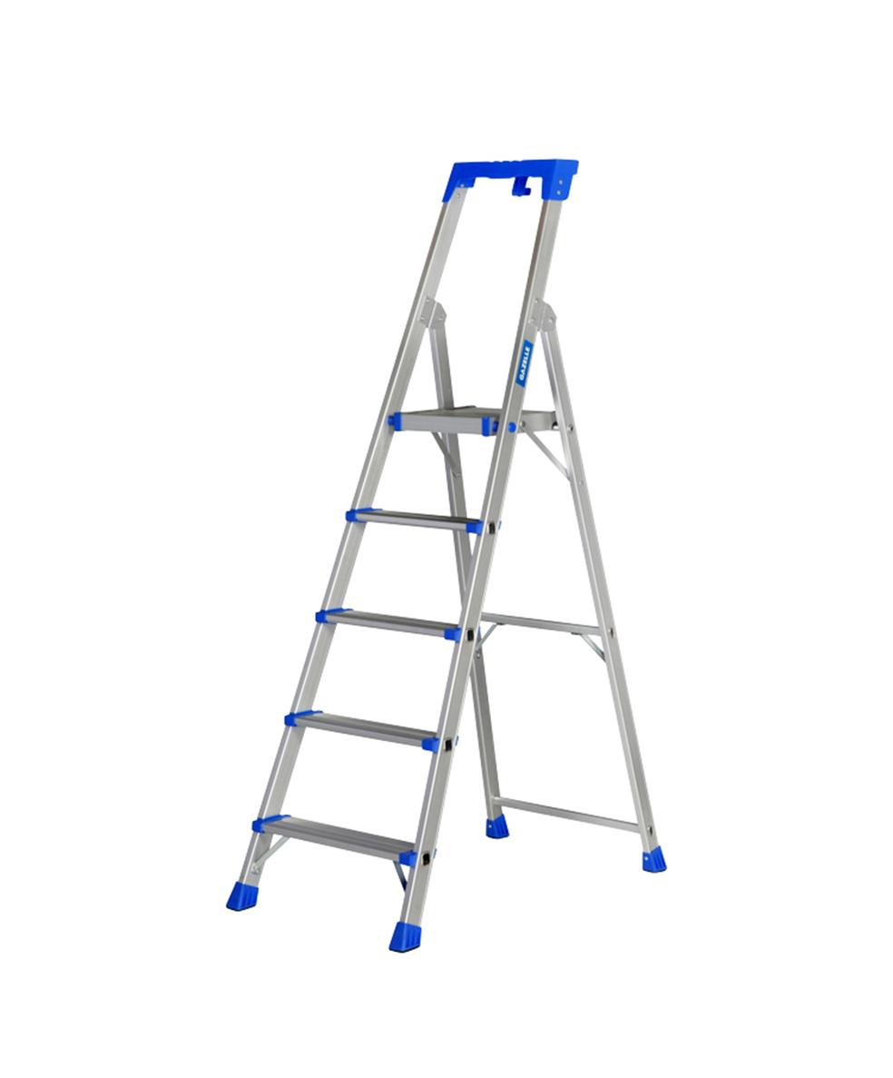 GAZELLE G5705 - 5 Step Platform Step Ladder for working height up to 9.4 Ft.