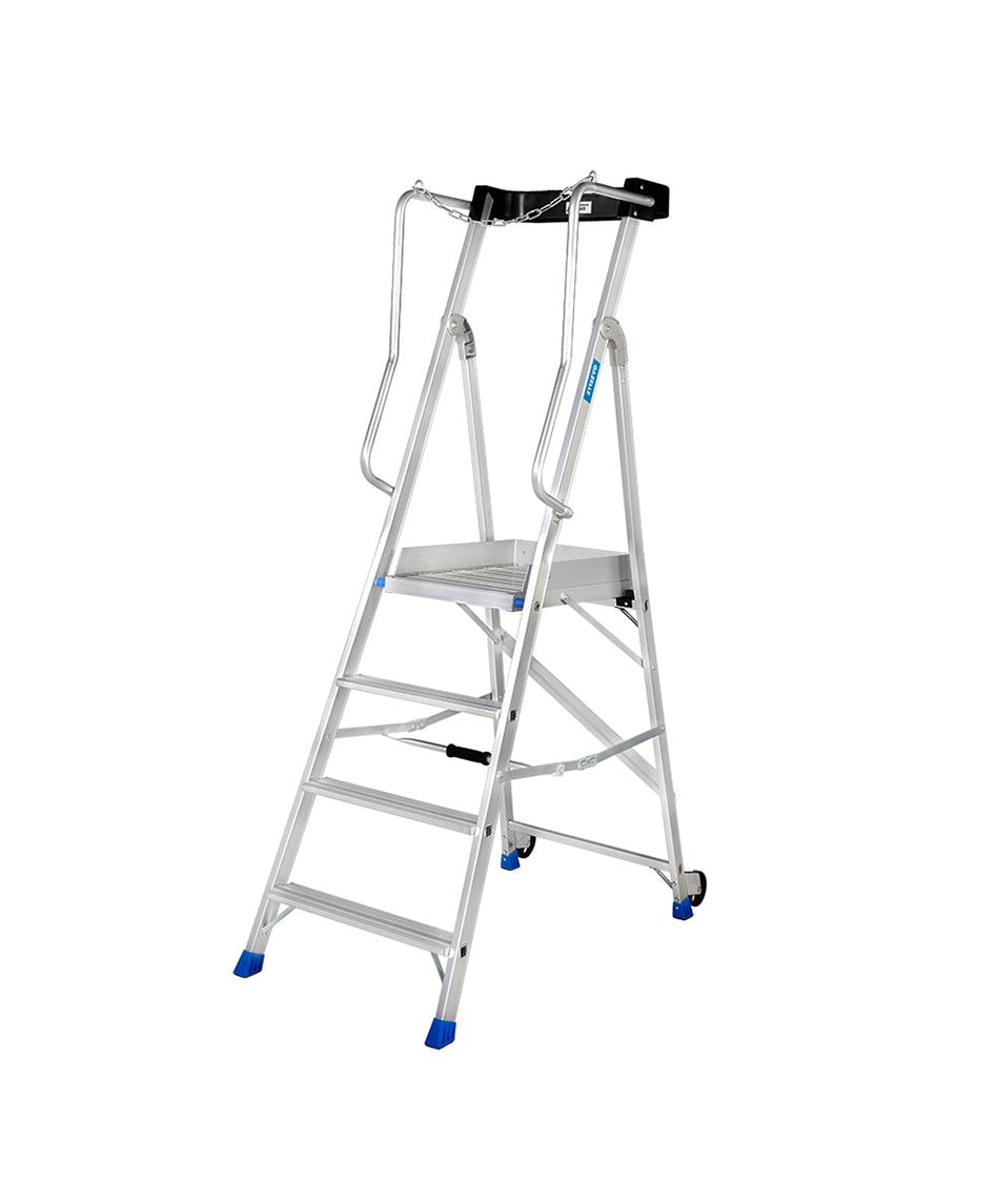 GAZELLE G5804 - 4 Step Aluminium Platform Ladder for working height up to 9.3 Ft.