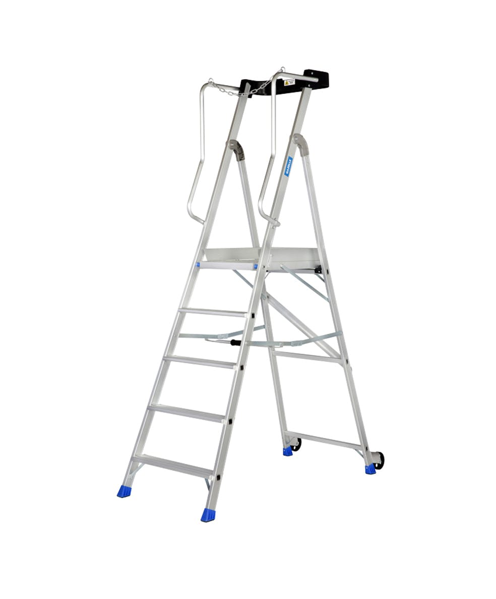 GAZELLE G5805 - 5 Step Aluminium Platform Ladder for working height up to 10.3 Ft.