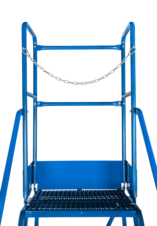 GAZELLE G7014 - 14 Step  Mobile Step Ladder W/ Hand rail