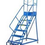 GAZELLE G7008 - 8 Step Mobile Step Ladder W/ Hand rail