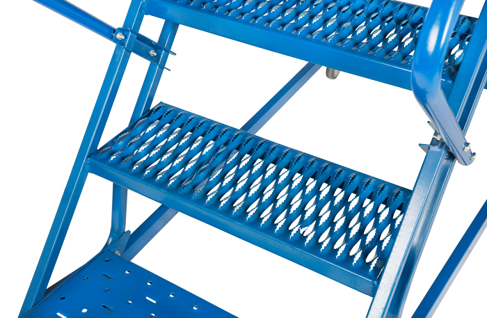 - 8 Step Mobile Step Ladder W/ Hand rail