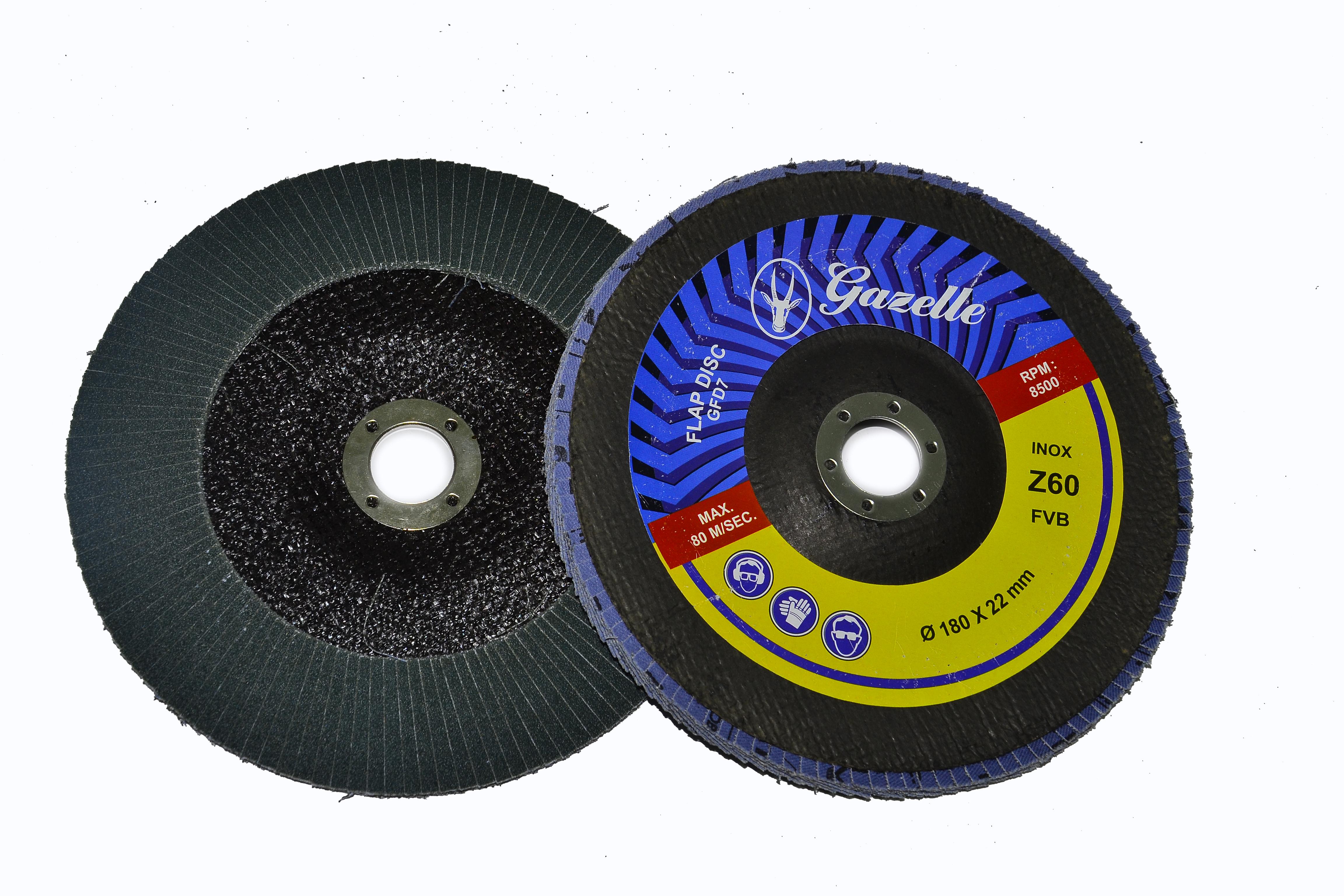GAZELLE GFDZ780G - Flap Disc 7in – 180mm x 80Grit Zircon