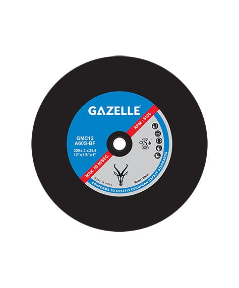 GAZELLE GMC12 - Large Cut-Off Wheels 12in – 300 x 3 x 25mm