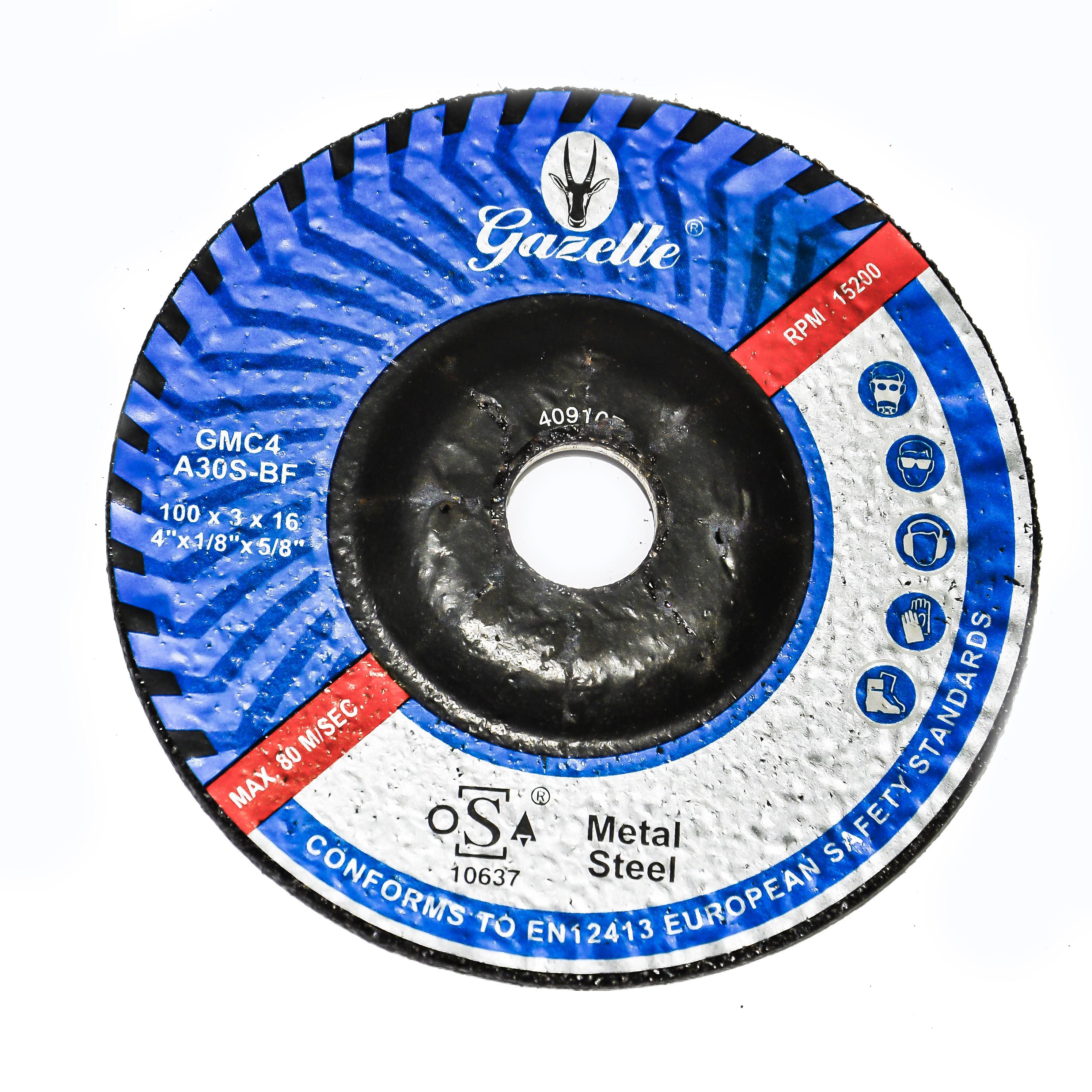 GAZELLE GMC4 - Metal Cutting Disc 4in – 100 x 3 x 16 mm