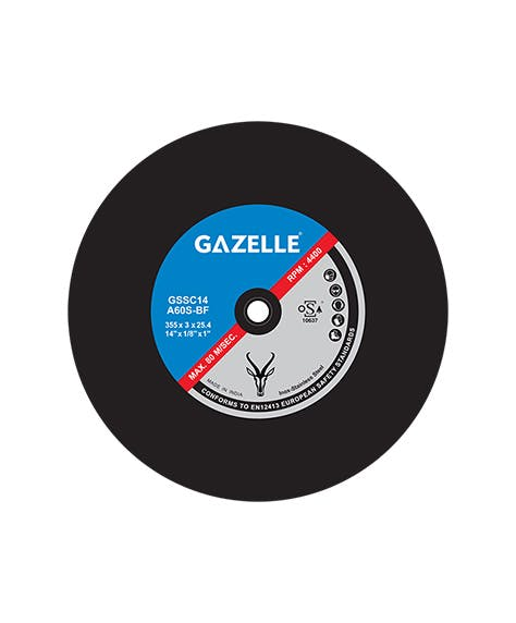 GAZELLE GSSC14 - Large Cut-Off Wheels 14in – 350 x 3 x 25mm S.S