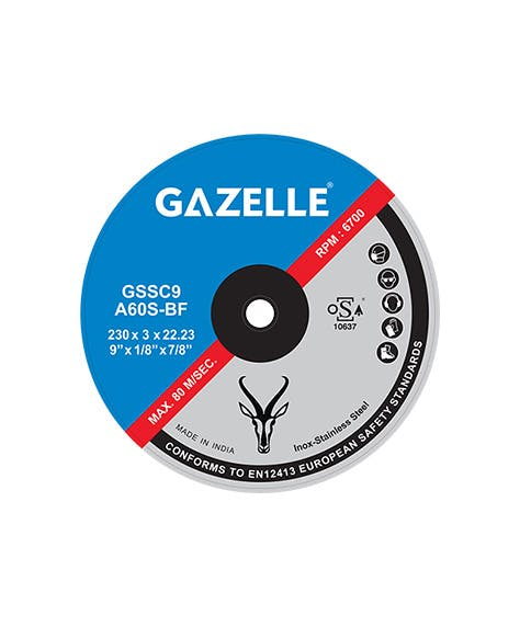 GAZELLE GSSC5 - Stainless Steel Cutting Disc 5in – 125 x 3 x 22mm
