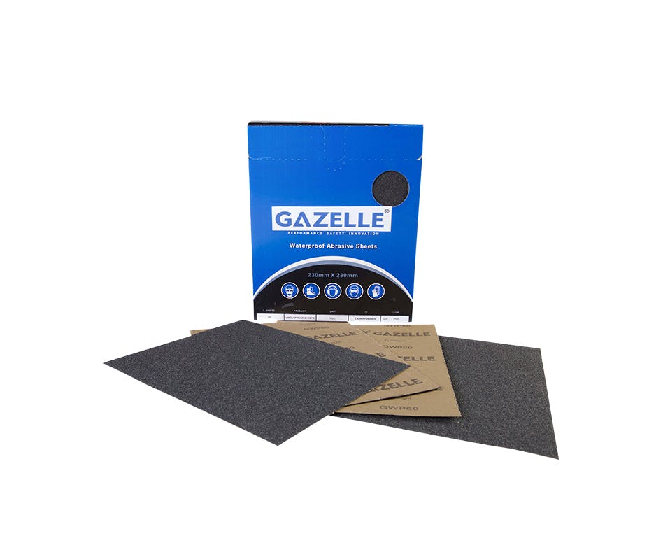 GAZELLE GWP400 - Waterproof Sheets 8 x 11in – 400Grit (Pack of 50)