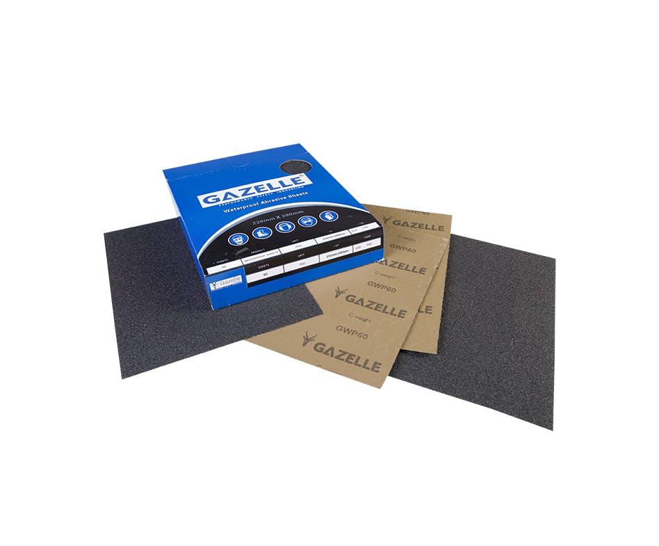 - Waterproof Sheets 8 x 11in – 80Grit (Pack of 50)