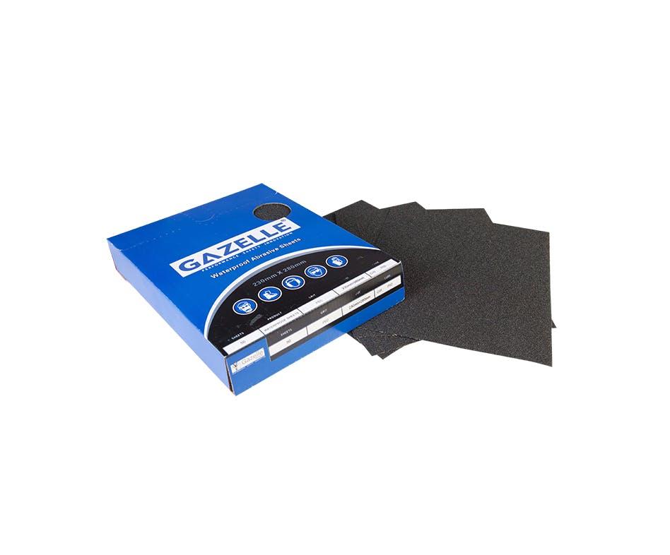 GAZELLE GWP320 - Waterproof Sheets 8 x 11in – 320Grit (Pack of 50)