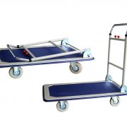 GAZELLE TDS150 - Platform Trolley – Steel Bed w/Folding Handle