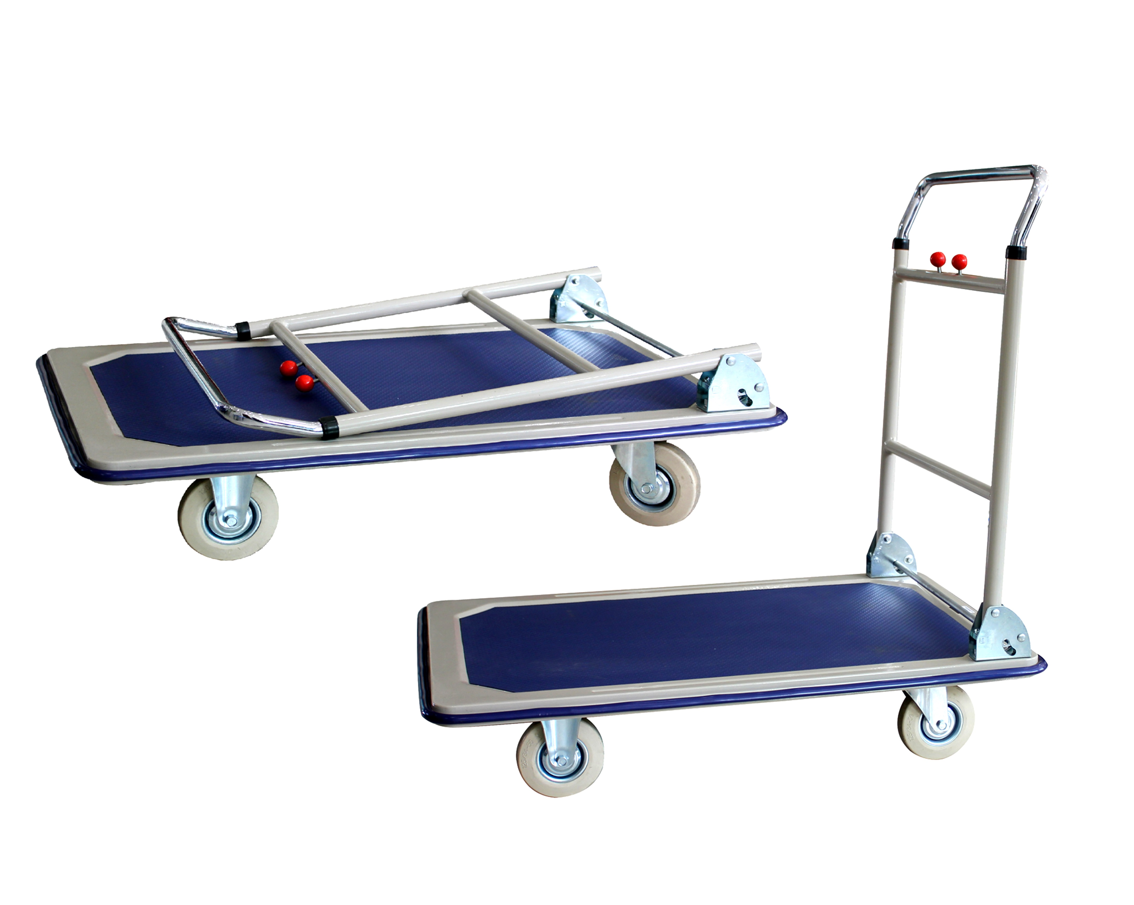 Platform Trolley - Steel Bed w/Folding Handle
