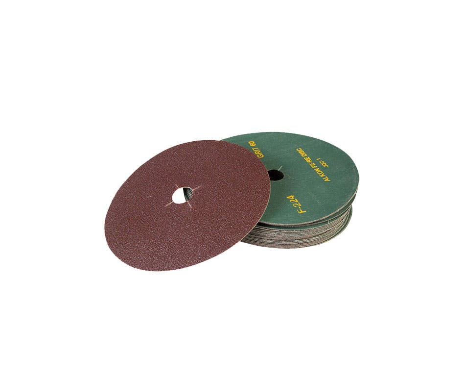 GAZELLE F224-4-100 - Coated Fibre /Sanding Discs 4in – 100mm x 100G